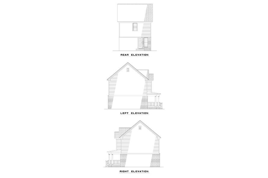EXTERIOR ELEVATIONS of this 2-Bedroom,980 Sq Ft Plan -980
