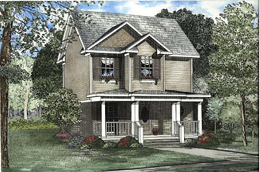 2-Bedroom, 980 Sq Ft Small House Plans - 153-1634 - Front Exterior