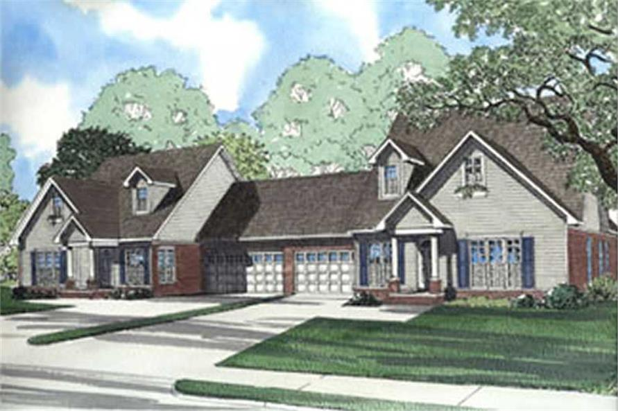 6-Bedroom, 1771 Sq Ft Multi-Unit Home Plan - 153-1635 - Main Exterior