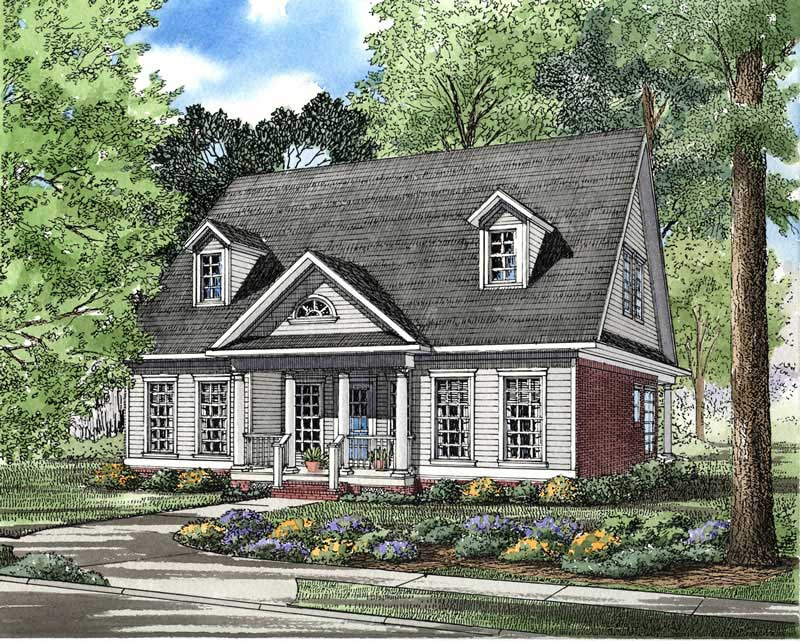 Southern Traditional House Plans Home Design ndg 337 3589