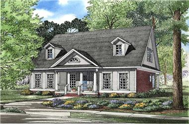 3-Bedroom, 2140 Sq Ft Southern Home Plan - 153-1637 - Main Exterior