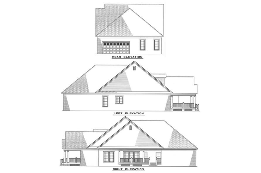 Other Elevations of this 3-Bedroom,1848 Sq Ft Plan -1848