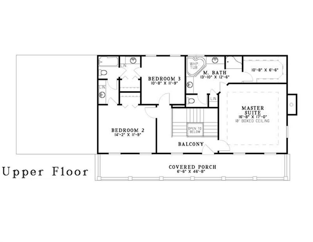 3 bedrm 2247 sq ft southern house plan 153 1642 for 2nd floor house plan