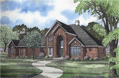 4-Bedroom, 4873 Sq Ft Country House Plan - 153-1643 - Front Exterior