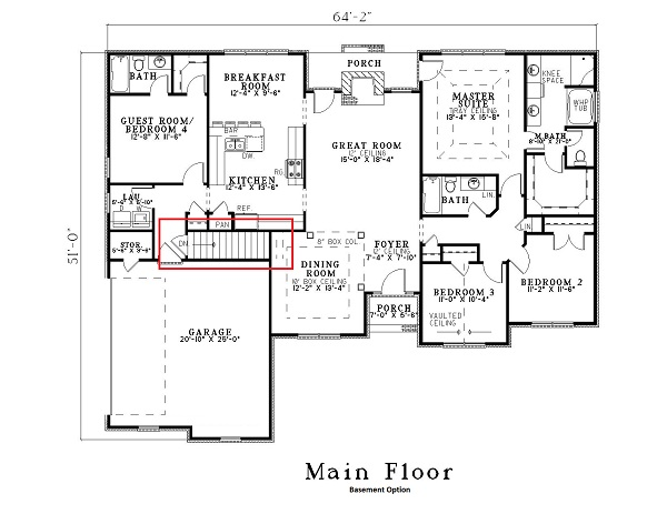 153-1645: Floor Plan Basement