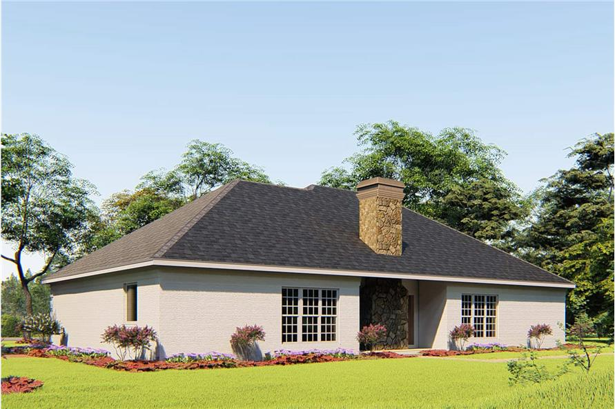 Rear View of this 4-Bedroom,1989 Sq Ft Plan -153-1645