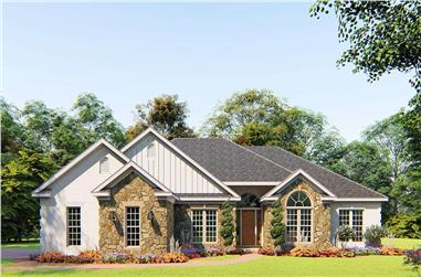 4-Bedroom, 1989 Sq Ft Ranch House - Plan #153-1645 - Front Exterior