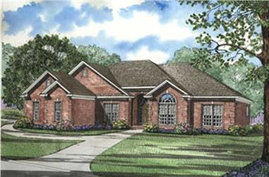 4-Bedroom, 1989 Sq Ft Ranch House Plan - 153-1645 - Front Exterior