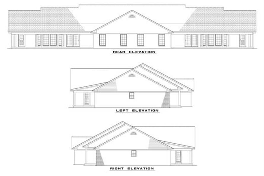 Home Plan Rear Elevation of this 6-Bedroom,1525 Sq Ft Plan -153-1647