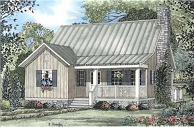 2-Bedroom, 1178 Sq Ft Country Home Plan - 153-1648 - Main Exterior