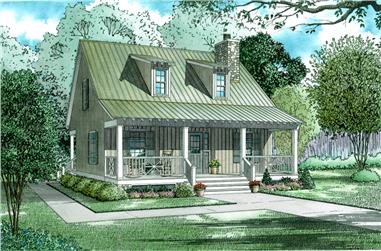 Front elevation of Country home (ThePlanCollection: House Plan #153-1649)
