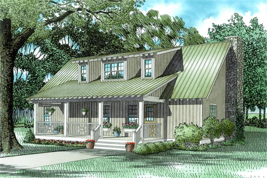 4-Bedroom, 1970 Sq Ft Country Home Plan - 153-1650 - Main Exterior