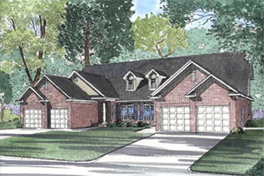 6-Bedroom, 1609 Sq Ft Multi-Unit Home Plan - 153-1652 - Main Exterior