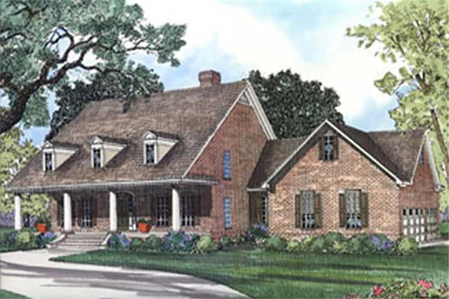 4-Bedroom, 2476 Sq Ft Country House Plan - 153-1653 - Front Exterior
