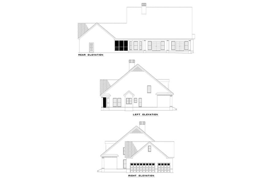 Home Plan Rear Elevation of this 4-Bedroom,2476 Sq Ft Plan -153-1653