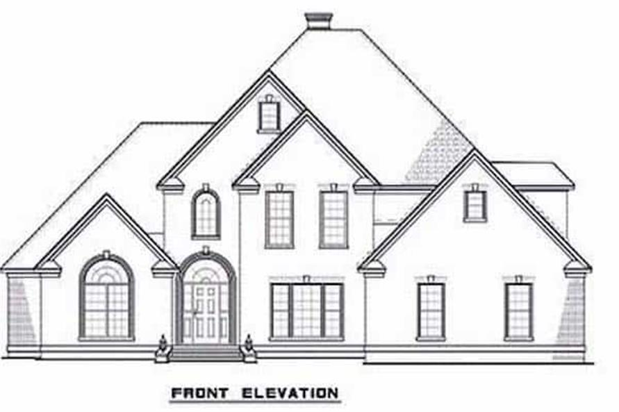 Home Plan Front Elevation of this 3-Bedroom,3593 Sq Ft Plan -153-1654