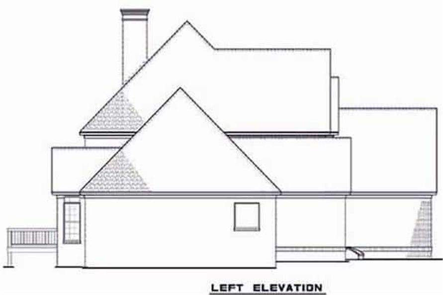 Home Plan Left Elevation of this 3-Bedroom,3593 Sq Ft Plan -153-1654