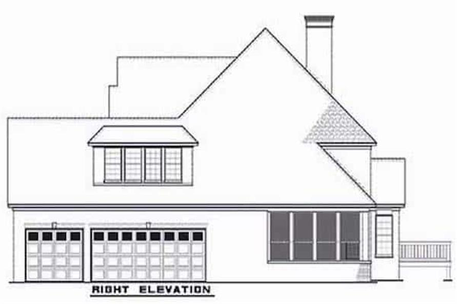 Home Plan Right Elevation of this 3-Bedroom,3593 Sq Ft Plan -153-1654