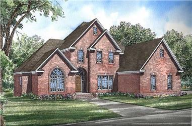3-Bedroom, 3108 Sq Ft European Home Plan - 153-1654 - Main Exterior