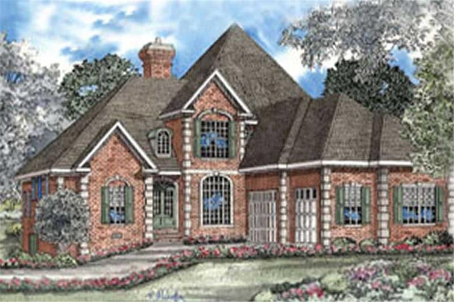 5-Bedroom, 3437 Sq Ft Luxury House Plan - 153-1655 - Front Exterior