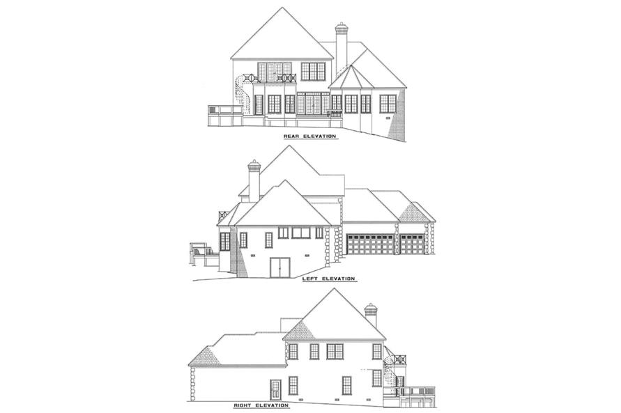 Other Elevations of this 5-Bedroom,3437 Sq Ft Plan -3437