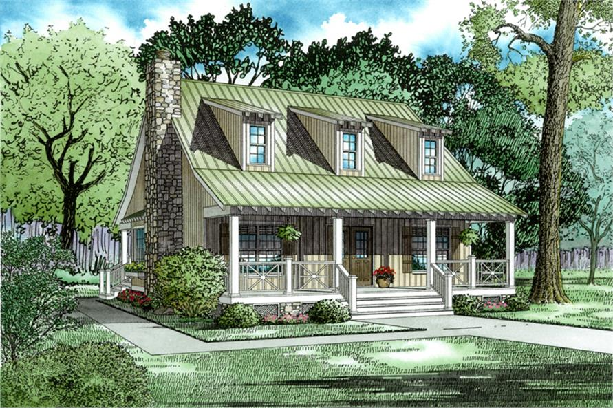 3-Bedroom, 1544 Sq Ft Country Home Plan - 153-1656 - Main Exterior