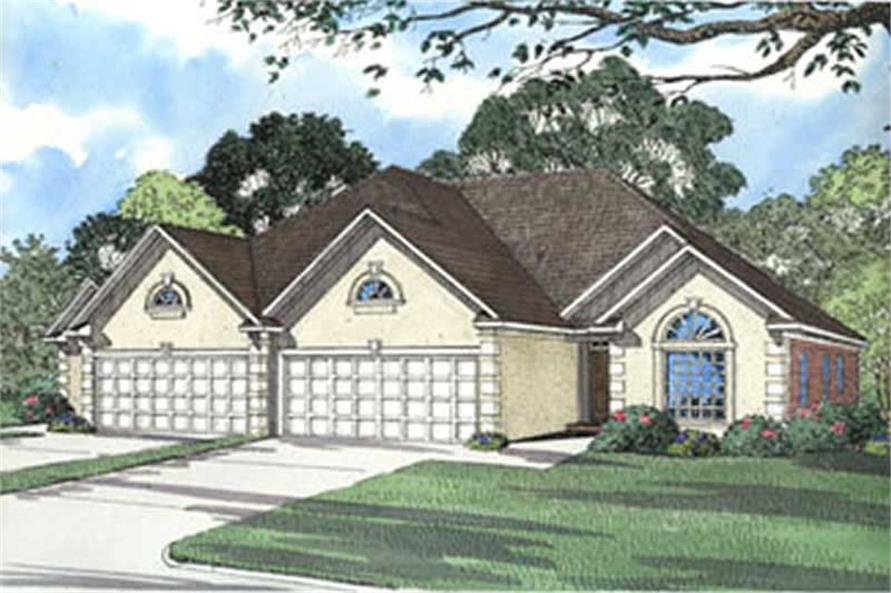6-Bedroom, 1750 Sq Ft Multi-Unit Home Plan - 153-1658 - Main Exterior