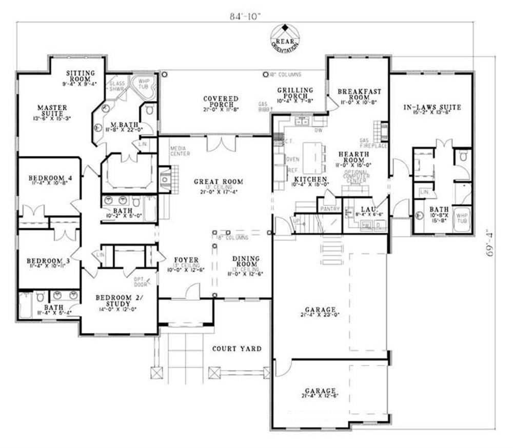 House Plan NDG-1140 Main Floor Plan