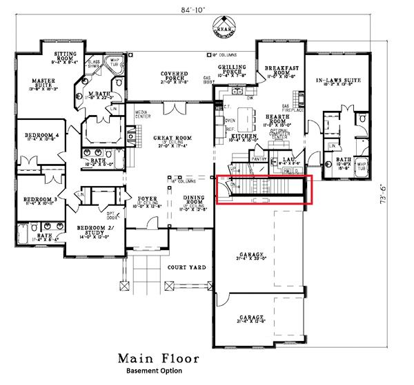153-1659: Floor Plan Main Level