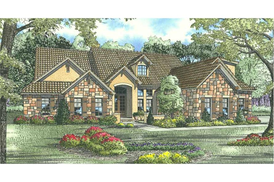 Front View of this 5-Bedroom,3003 Sq Ft Plan -3003