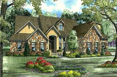 Front elevation of Country home (ThePlanCollection: House Plan #153-1659)