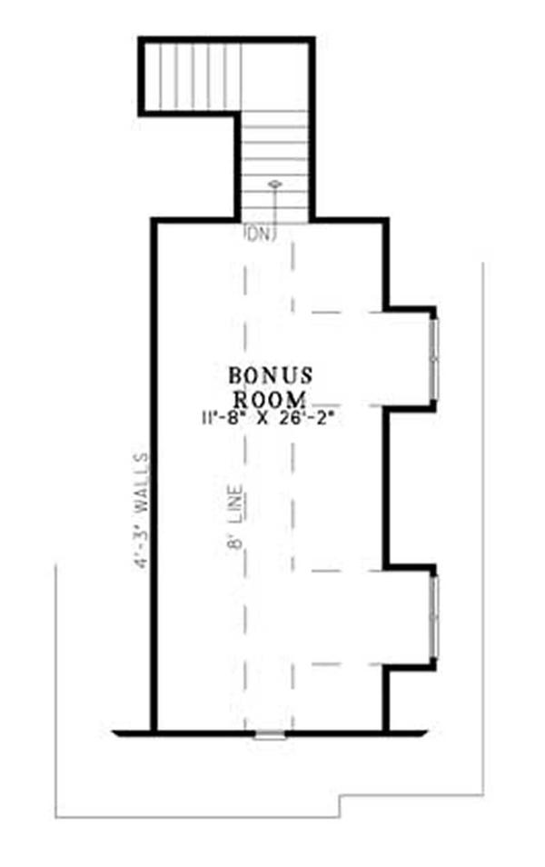 House Plan NDG-1140 Bonus Room Floor Plan