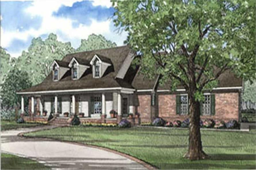 4-Bedroom, 3195 Sq Ft Country House Plan - 153-1661 - Front Exterior