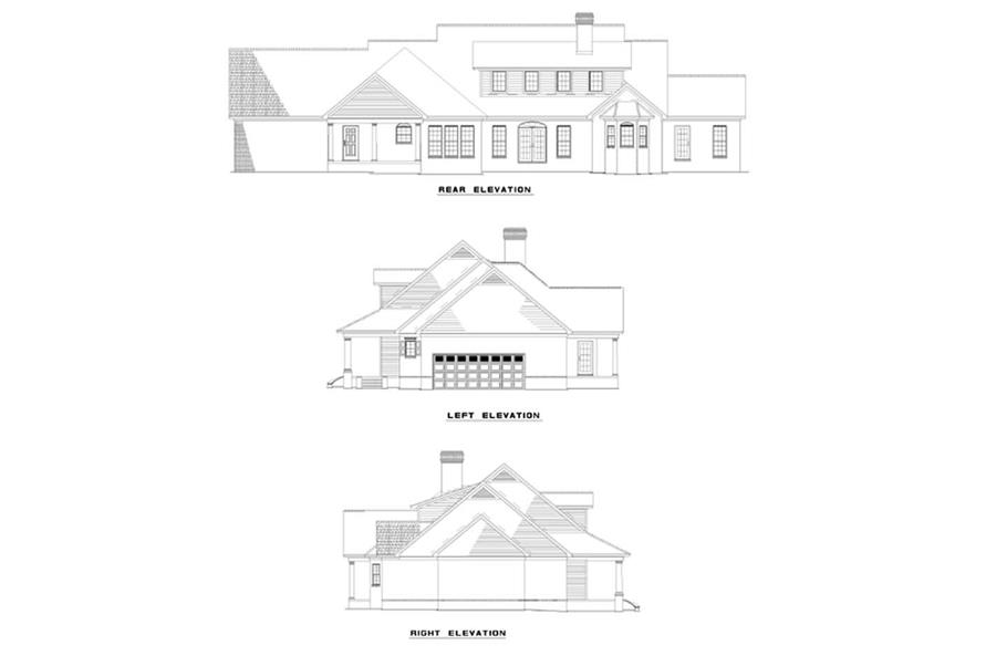 Home Plan Rear Elevation of this 4-Bedroom,3195 Sq Ft Plan -153-1661