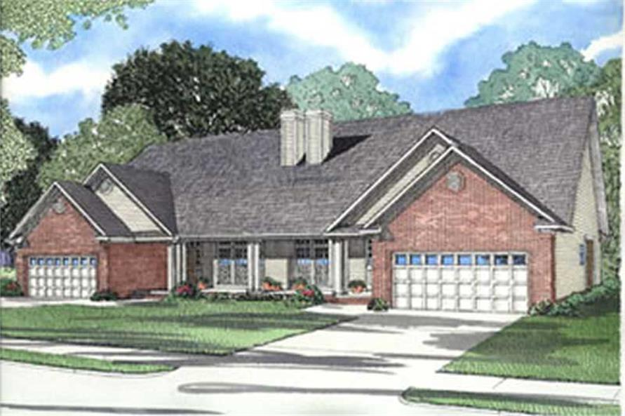6-Bedroom, 2182 Sq Ft Multi-Unit Home Plan - 153-1664 - Main Exterior