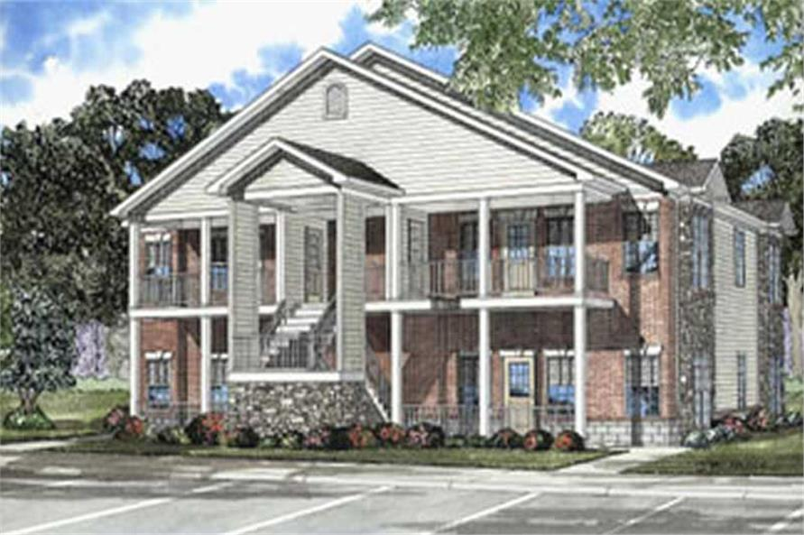 3-Bedroom, 5032 Sq Ft Multi-Unit House Plan - 153-1668 - Front Exterior
