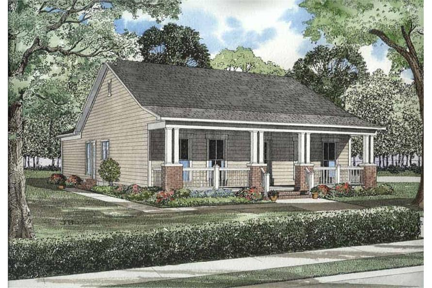 3-Bedroom, 1374 Sq Ft Craftsman House Plan - 153-1669 - Front Exterior