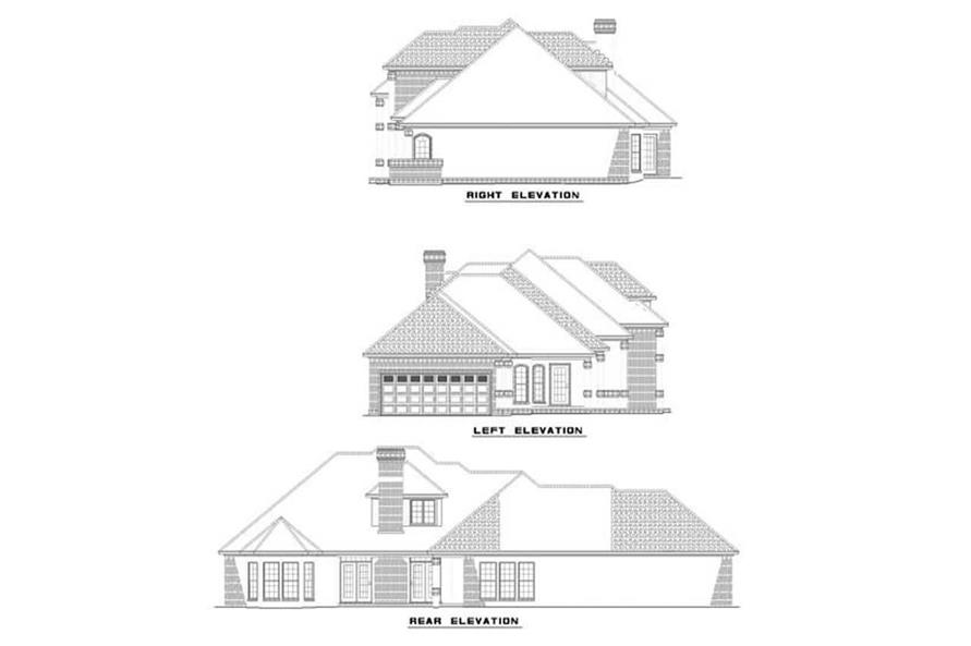 EXTERIOR ELEVATIONS of this 4-Bedroom,2824 Sq Ft Plan -2824