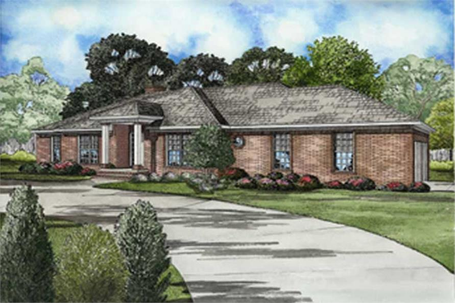 Main image for house plan # 8235