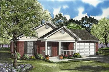 3-Bedroom, 1023 Sq Ft Ranch Home Plan - 153-1679 - Main Exterior