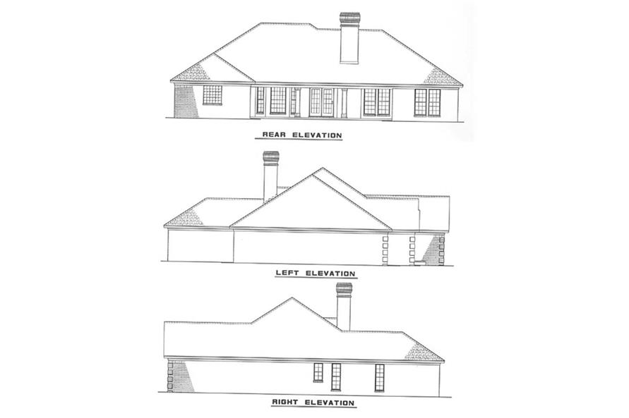Home Plan Rear Elevation of this 4-Bedroom,2107 Sq Ft Plan -153-1685