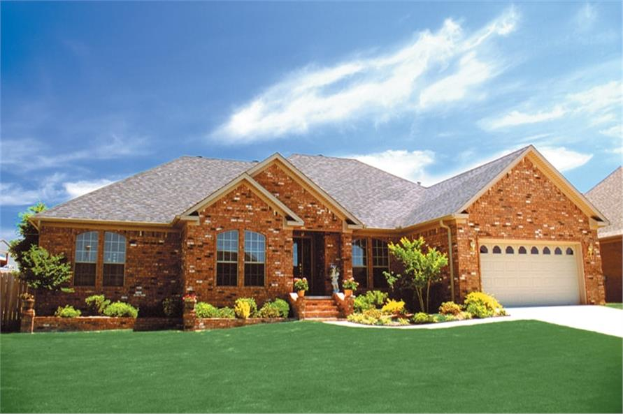 Front View of this 4-Bedroom,2107 Sq Ft Plan -153-1685