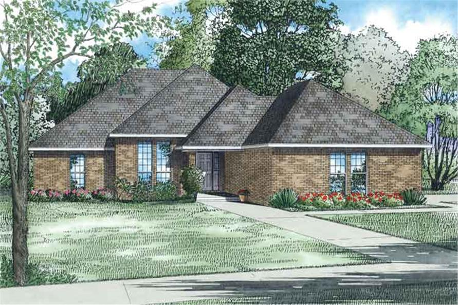 3-Bedroom, 1797 Sq Ft Ranch House Plan - 153-1686 - Front Exterior