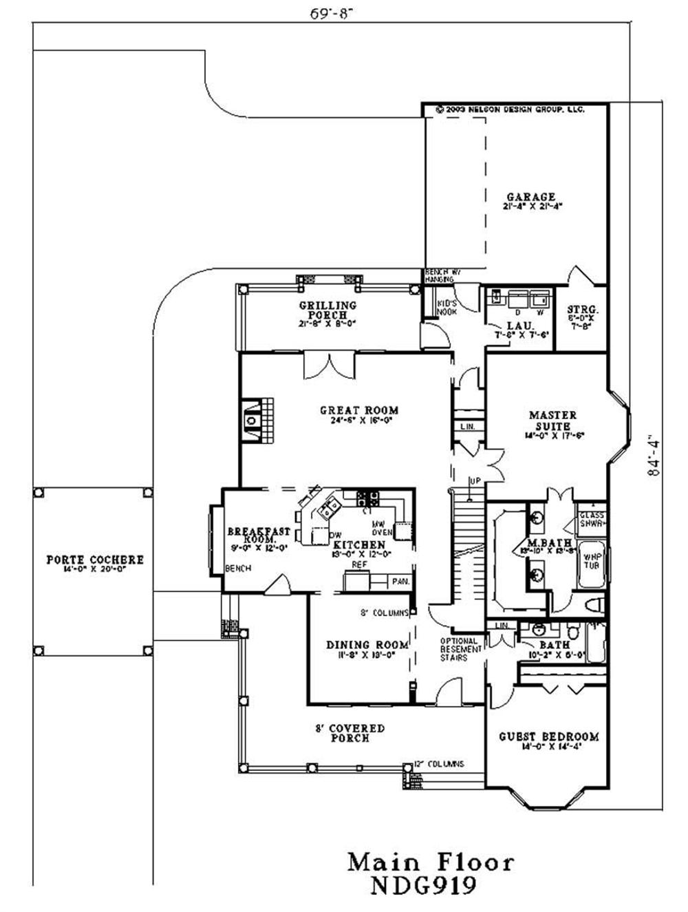 Large Images For House Plan 153 1687