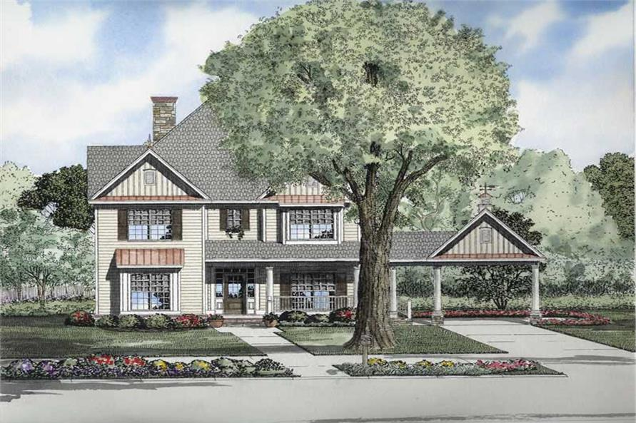 5-Bedroom, 3046 Sq Ft Colonial House Plan - 153-1688 - Front Exterior