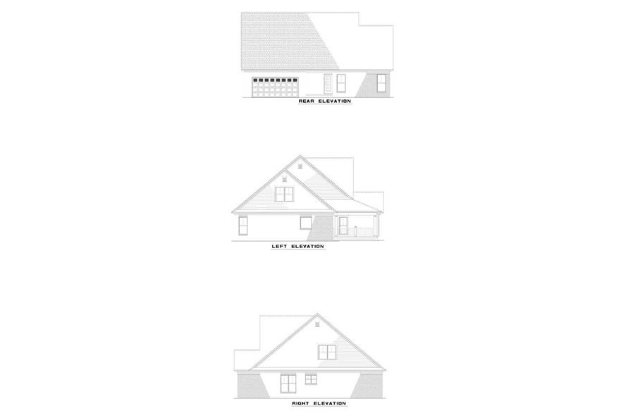 EXTERIOR ELEVATIONS of this 3-Bedroom,2297 Sq Ft Plan -2297