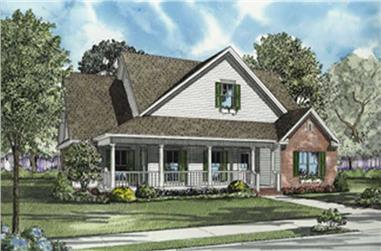3-Bedroom, 2297 Sq Ft Country Home Plan - 153-1698 - Main Exterior