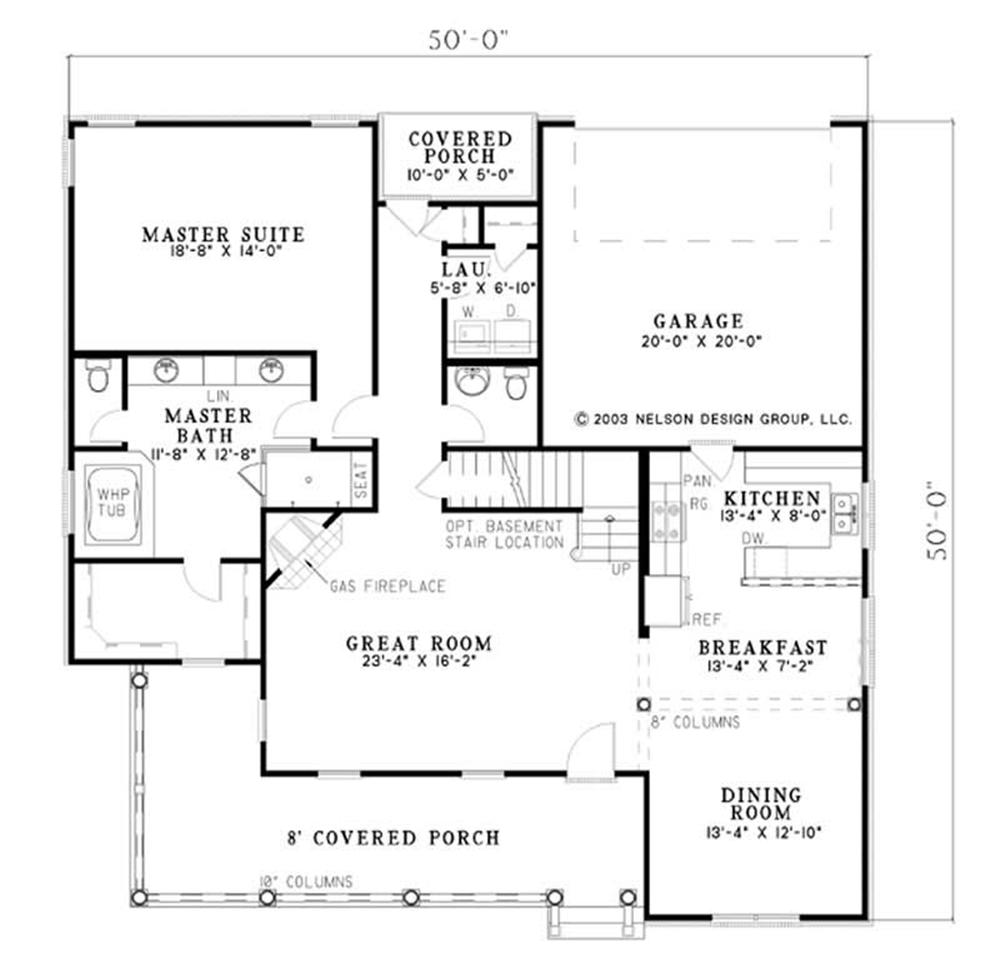 Large Images For House Plan 153 1698