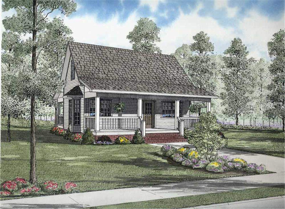 Front elevation of Multi-Level home (ThePlanCollection: House Plan #153-1702)