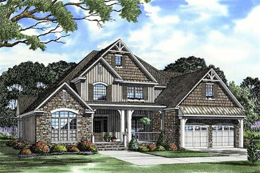 2481 sq ft craftsman home with 4 bedrooms house plan 153
